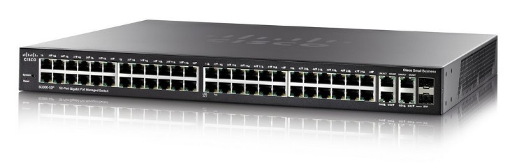 Cisco SG350-52 Gestionado L3 Gigabit Ethernet (10/100/1000) Negro 1U