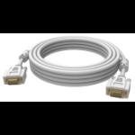 Vision 2x VGA 15-pin D-Sub, 10m VGA cable VGA (D-Sub) White