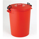 VFM DUSTBIN 110L WITH LID RED 382067