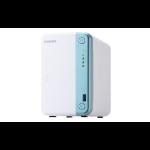 QNAP TS-251D J4005 Ethernet LAN Tower Blue,White NAS TS-251D-2G/20TB-RED