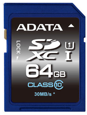 ADATA SDXC 64GB memory card Class 10 UHS
