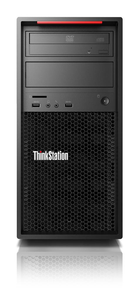 Lenovo ThinkStation P520c + ThinkVision P27h Intel® Xeon® W-2123 16 GB DDR4-SDRAM 256 GB SSD Zwart Toren Workstation