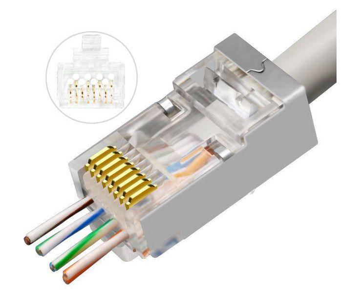 Microconnect KON506-50EZ wire connector RJ45 Silver, Transparent