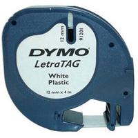DYMO LETRATAG PLAS TAPE 12MMX4M PRL WHT