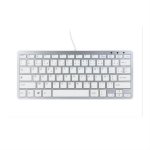 R-Go Tools R-Go Compact Keyboard, AZERTY (FR), white, wired