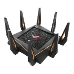 ASUS (GT-AX11000) ROG Rapture AX11000 (1148+4804+4804) Wireless Tri-Band Gaming Router, 802.11ax, Quad Co