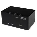 StarTech.com 2 Port Triple Monitor DVI USB KVM Switch with Audio & USB 2.0 Hub