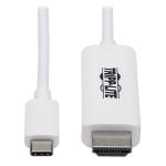 "Tripp Lite U444-003-HWE video cable adapter 35.8"" (0.91 m) USB Type-C HDMI Type A (Standard) White"