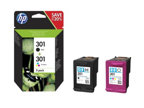 HP 301 Original Negro, Cian, Magenta, Amarillo 2 pieza(s) Rendimiento estándar
