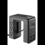 APC PE6U4 power distribution unit (PDU) 6 AC outlet(s) Black