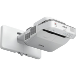 Epson PowerLite 675W data projector Wall-mounted projector 3200 ANSI lumens 3LCD WXGA (1280x800) Gray, White