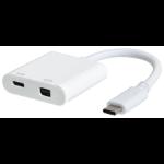 eSTUFF USB-C MiniDP Charging Adapter White interface hub