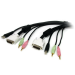 StarTech.com 10 ft 4-in-1 USB DVI KVM Cable with Audio and Microphone