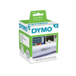 DYMO 99012 (S0722400) DirectLabel-etikettes, 89mm x36mm, Pack qty 2