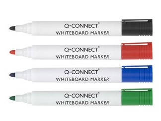 Q-CONNECT KF00880 marker 10 pc(s) Bullet tip Black, Blue, Green, Red