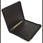 Gold Line Goldline Pres Case Vinyl Metal Trim 20 Sleeves 6 Ring A2 BK