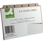 Q-CONNECT Q CONNECT GUIDECARDS 6X4 A-Z BUFF