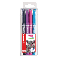 Stabilo Sensor Fineliner Assorted (Pack 4)
