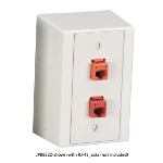 Black Box JPB652D outlet box RJ-45 Red,White