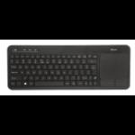 Trust VEZA WIRELESS TOUCHPAD keyboard RF Wireless QWERTY English Black