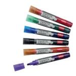 Nobo Liquid Ink Drywipe Markers Assorted (6) marker