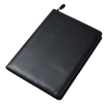 Collins Conference Portfolio with Zip Black letter folder