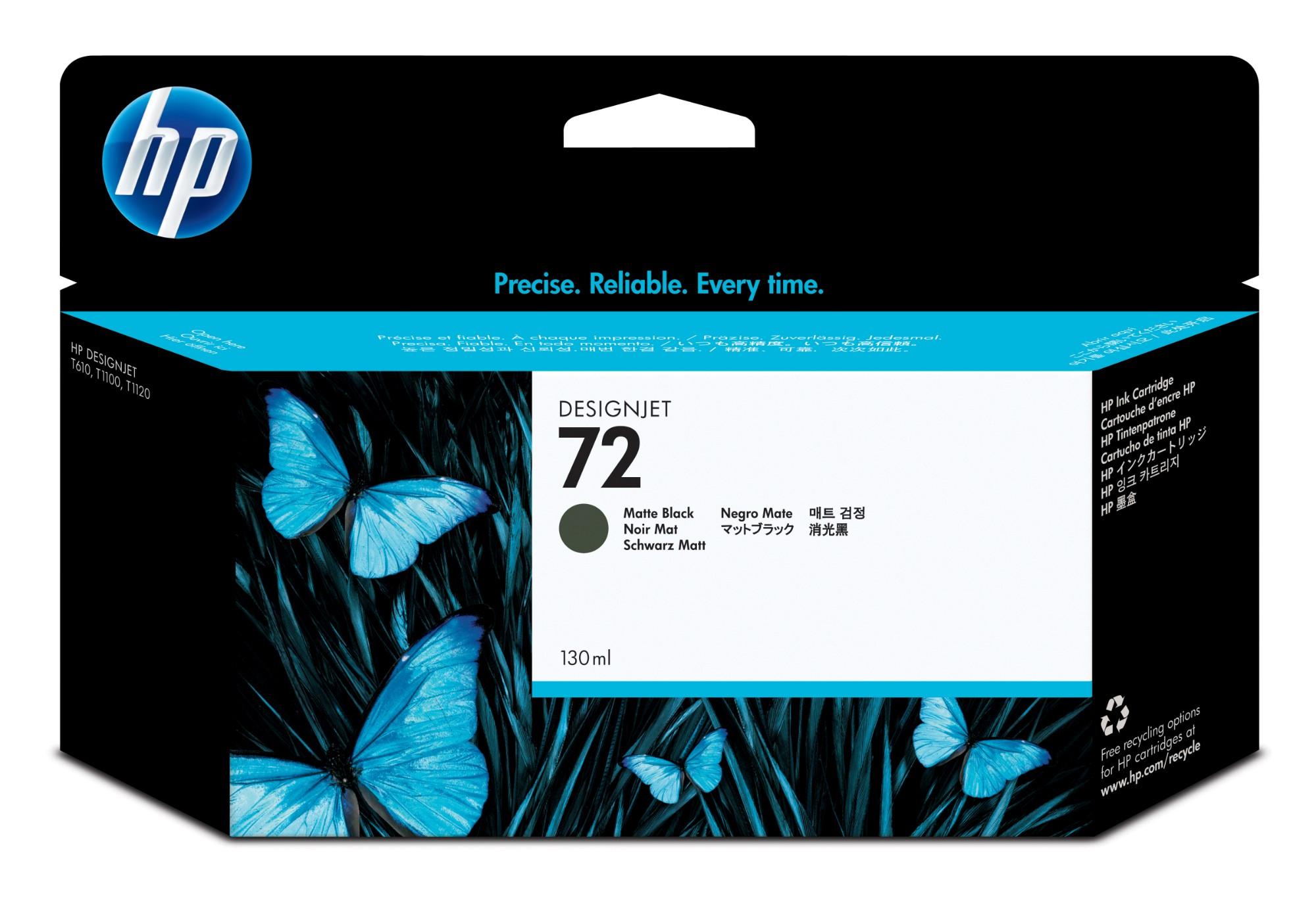 HP 72 Origineel Mat Zwart