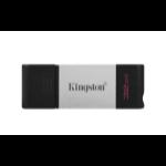 Kingston Technology DataTraveler 80 USB flash drive 32 GB USB Typ-C 3.2 Gen 1 (3.1 Gen 1) Schwarz, Silber