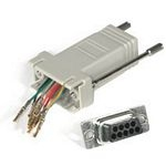 C2G RJ45/DB9M Modular Adapter RJ45 DB9 M Grey cable interface/gender adapter