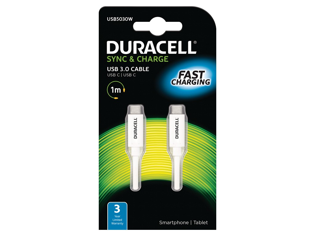 Duracell 1M USB Type-C Sync/Charge Cable