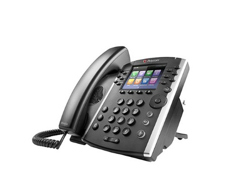 Polycom VVX 410 Skype for Business IP phone Black Wired handset TFT 12 lines