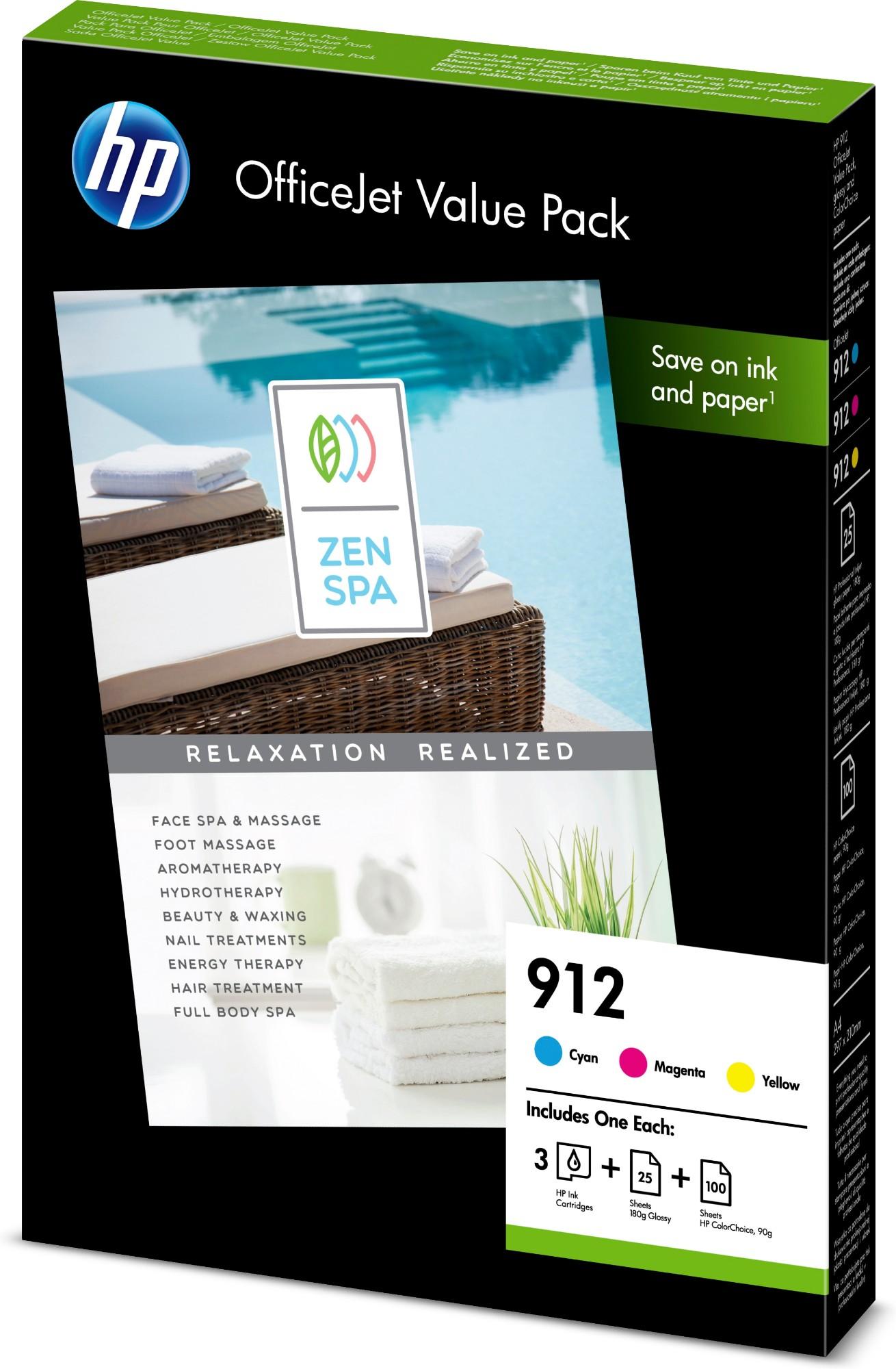 HP 912 Office Value Pack Original Cian, Magenta, Amarillo 3 pieza(s)