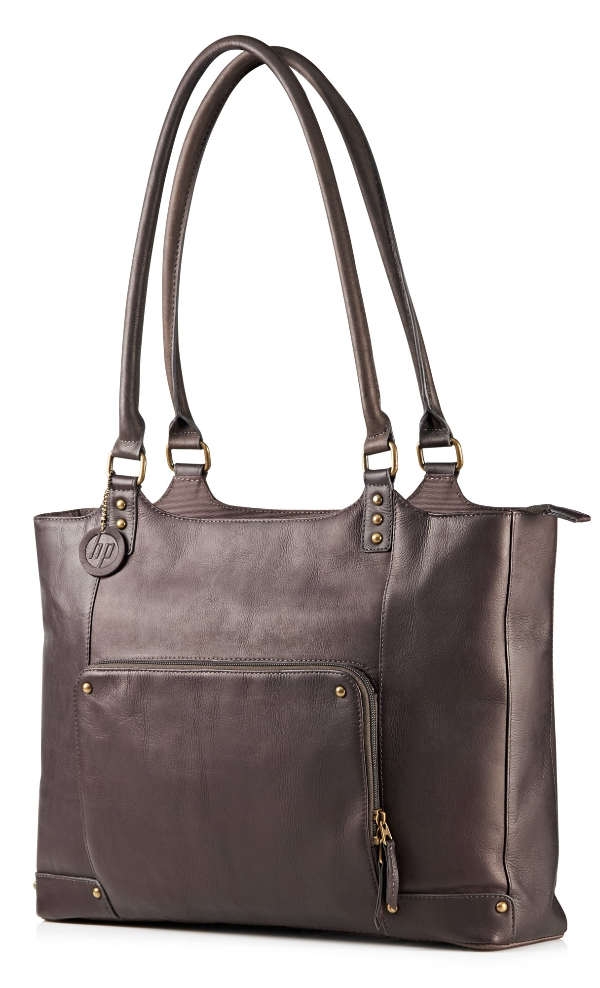 HP Ladies Brown Leather Tote