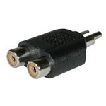 C2G RCA/Dual RCA Adapter 2x RCA FM RCA M Black cable interface/gender adapter