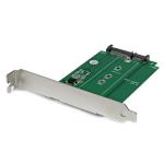 StarTech.com M.2 naar SATA SSD-adapter in uitbreidingssleuf gemonteerd
