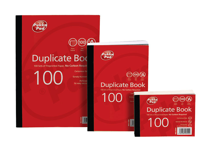 Pukka Value Duplicate Book Plain Ruled 216x130mm PK5