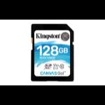 Kingston Technology Canvas Go! flashgeheugen 128 GB SDXC Klasse 10 UHS-I