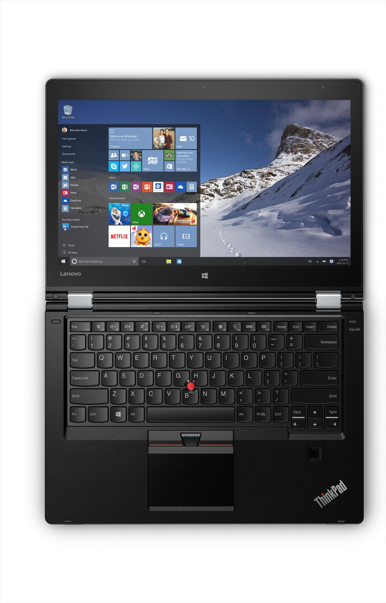 "Lenovo ThinkPad Yoga 460 2.5GHz i7-6500U 14"" 1920 x 1080pixels Touchscreen Black"