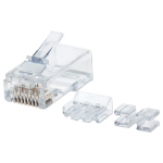 Intellinet RJ45 Modular Plugs Pro Line, Cat6A, UTP, 3-prong, for solid wire, 50 µ gold-plated contacts, 80 pack