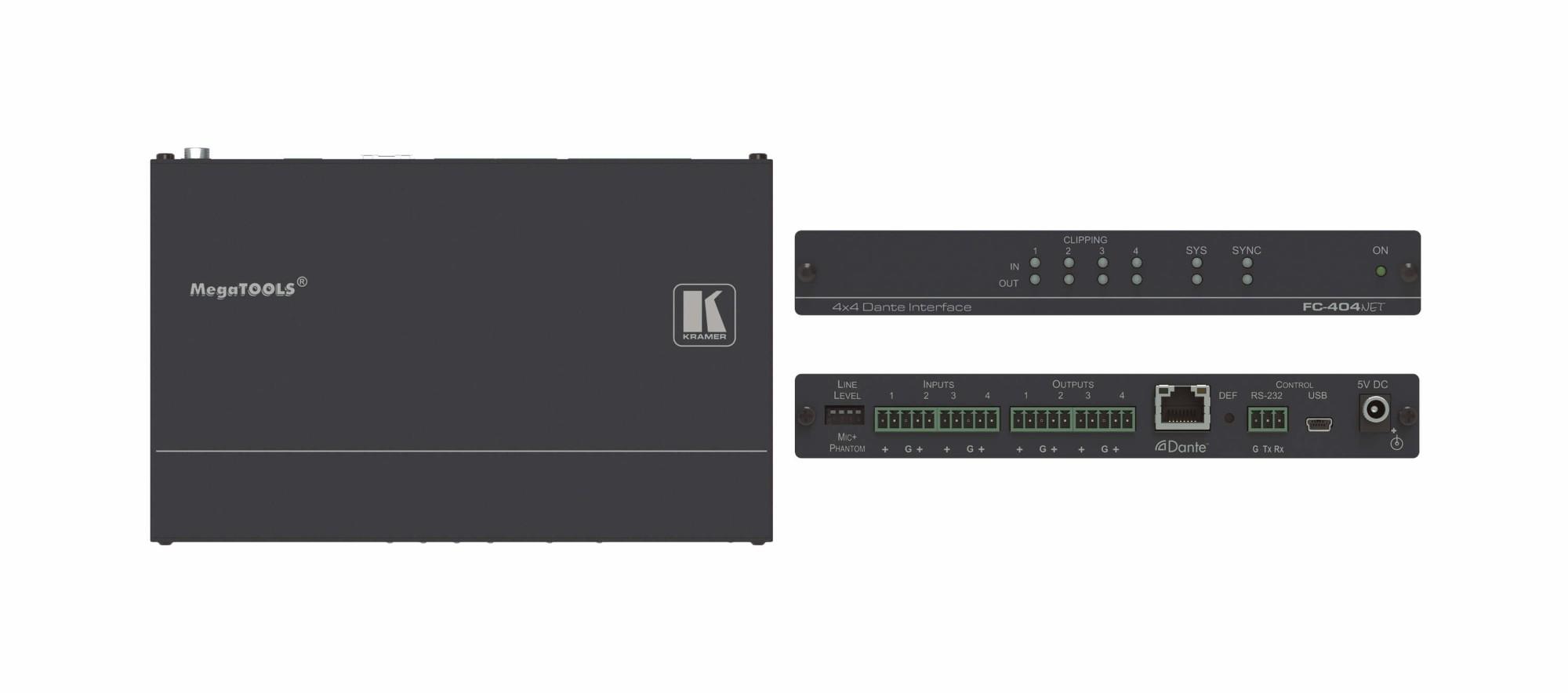 Kramer Electronics FC-404Net audio converter Black