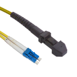 Videk OS1 LC - MTRJ fiber optic cable 3 m MT-RJ Yellow