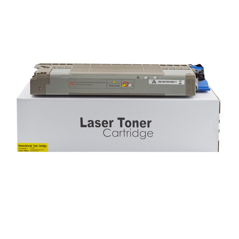 Remanufactured OKI 44844505 Yellow Toner Cartridge