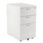 Jemini 3 Drawer Desk High Pedestal 600 White