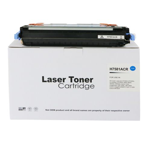 Remanufactured HP Q7581A (503A) / Canon 711C Cyan Toner Cartridge