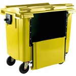FSMISC 1100L DROP FRONT WHEELLIE BIN YELLOW