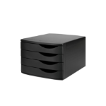 Jalema Re-Solution Drawer Set with 4 drawers, black