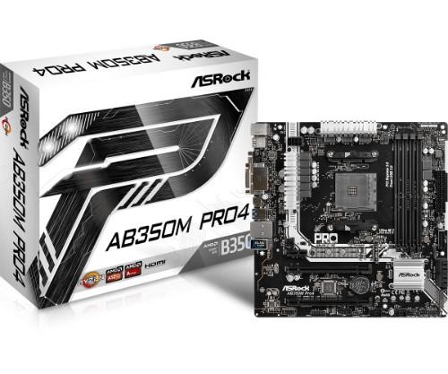 Asrock AB350M Pro4 motherboard Socket AM4 Micro ATX AMD B350