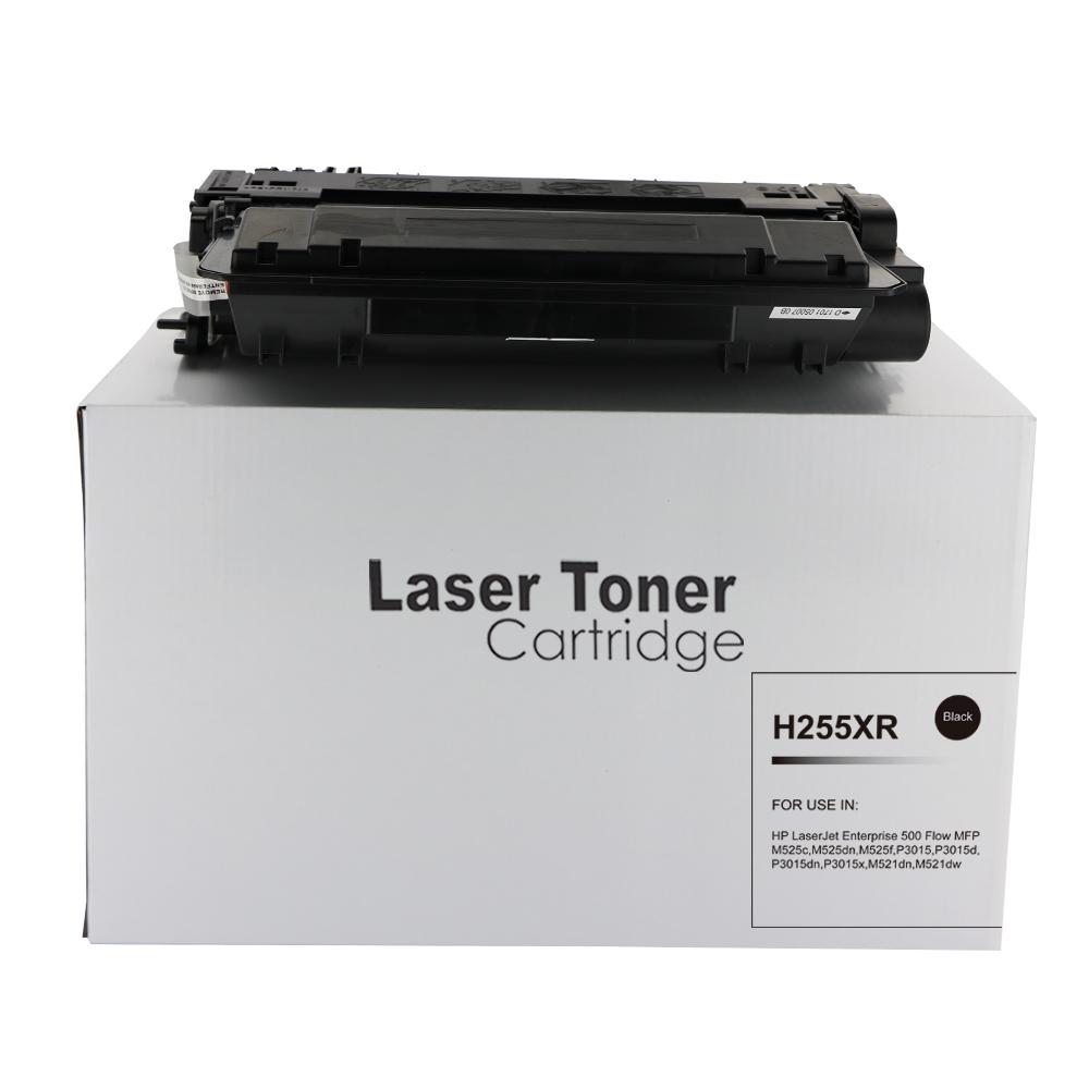 Remanufactured HP CE255X (55X) Black Toner Cartridge