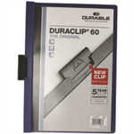 Durable Duraclip 60 report cover Blue,Transparent PVC