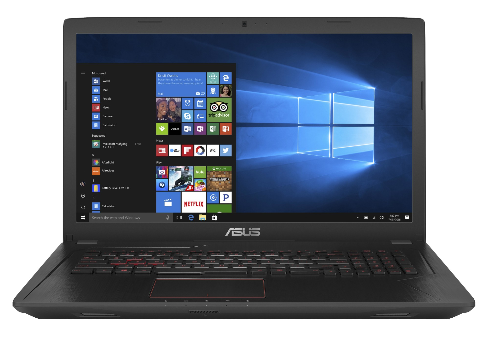 """ASUS FX553VD-DM627T 2.5GHz i5-7300HQ 15.6"""" 1920 x 1080pixels Black Notebook"""